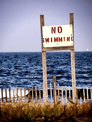 Photograph - No Swimming by Colleen Kammerer