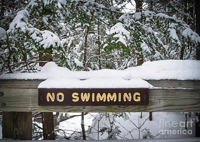 Photograph - No Swimming by Glenn Gordon