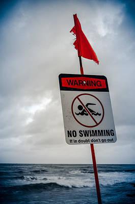 Stormy Waters In Hawaii Art Print