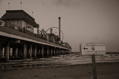 Roller Coaster Photograph - No Swimming  by John McGraw
