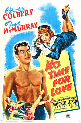 No Time For Love, Us Poster, From Left Art Print by Everett