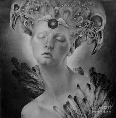Face Drawing - No Title 8 by Graszka Paulska