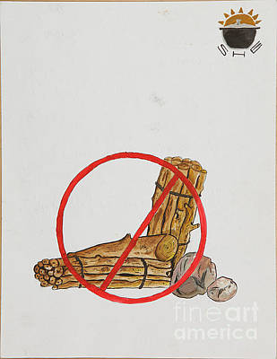 Drawing - No To Logs by Lunda Vincente