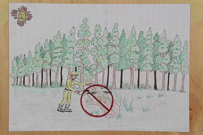 Drawing - Don't Cut Down Trees by Lunda Vincente