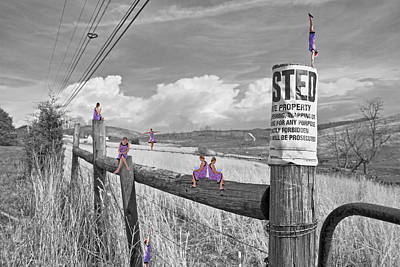 Fence Digital Art - No Trespassing by Betsy Knapp