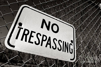 Photograph - No Trespassing by Olivier Le Queinec
