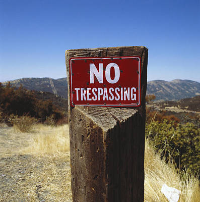 Photograph - No Trespassing by P Hammerschmidt and Okapia