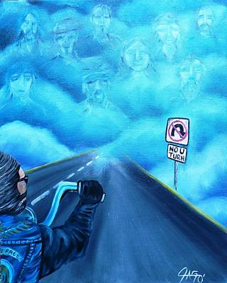 Painting - No U Turn In Blue by The GYPSY