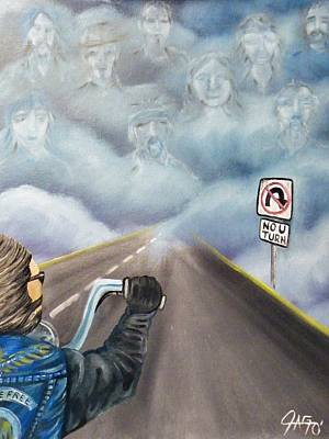 Painting - No U Turn by The GYPSY And DEBBIE