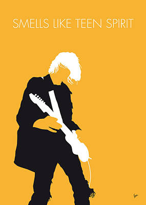 No004 My Nirvana Minimal Music Poster Art Print