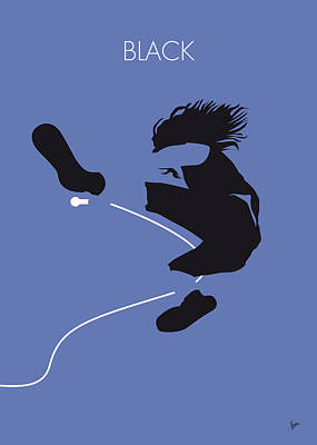Artist Digital Art - No008 My Pearl Jam Minimal Music Poster by Chungkong Art