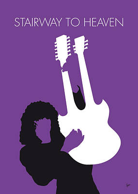 Musician Digital Art - No011 My Led Zeppelin Minimal Music Poster by Chungkong Art