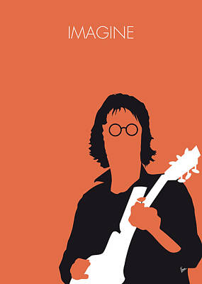 Musician Digital Art - No013 My John Lennon Minimal Music Poster by Chungkong Art