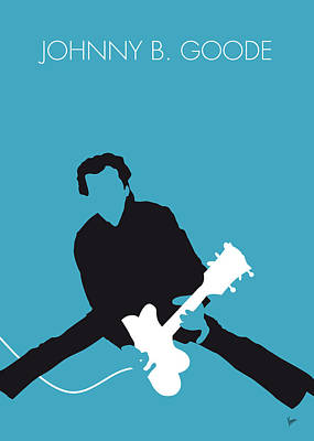 Chuck Digital Art - No015 My Chuck Berry Minimal Music Poster by Chungkong Art