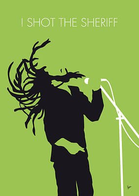 Idea Digital Art - No016 My Bob Marley Minimal Music Poster by Chungkong Art