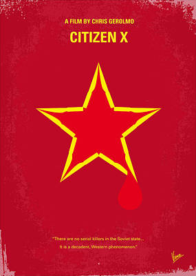 Ussr Digital Art - No017 My Citizen X Minimal Movie Poster by Chungkong Art