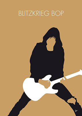 Stars Digital Art - No020 My Ramones Minimal Music Poster by Chungkong Art