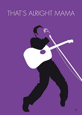 Icons Digital Art - No021 My Elvis Minimal Music Poster by Chungkong Art