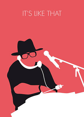 Hop Digital Art - No022 My Run Dmc Minimal Music Poster by Chungkong Art