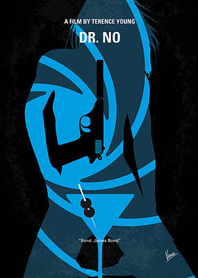 Sean Digital Art - No024 My Dr No James Bond Minimal Movie Poster by Chungkong Art