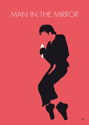 Bad Digital Art - No032 My Michael Jackson Minimal Music Poster by Chungkong Art