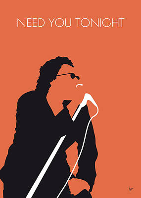 New Artist Digital Art - No033 My Inxs Minimal Music Poster by Chungkong Art