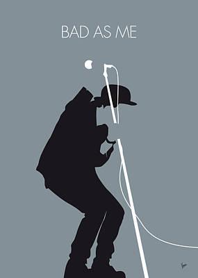 Digital Art - No037 My Tom Waits Minimal Music Poster by Chungkong Art