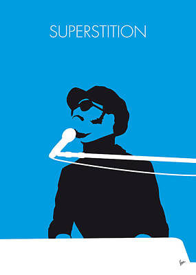500 Digital Art - No039 My Stevie Wonder Minimal Music Poster by Chungkong Art