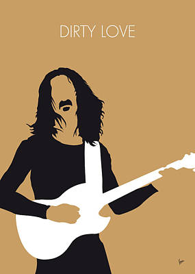 Stars Digital Art - No040 My Frank Zappa Minimal Music Poster by Chungkong Art