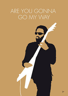 Stars Digital Art - No050 My Lenny Kravitz Minimal Music Poster by Chungkong Art