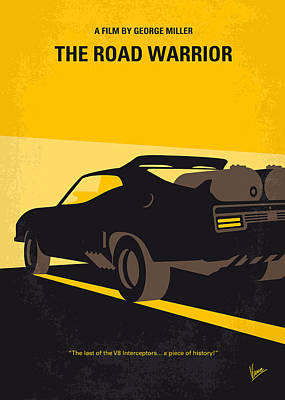 Warrior Digital Art - No051 My Mad Max 2 Road Warrior Minimal Movie Poster by Chungkong Art