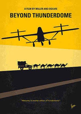 . Mel Digital Art - No051 My Mad Max 3 Beyond Thunderdome Minimal Movie Poster by Chungkong Art