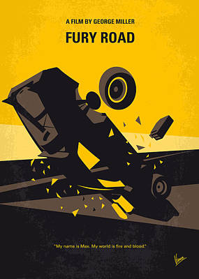 . Mel Digital Art - No051 My Mad Max 4 Fury Road Minimal Movie Poster by Chungkong Art