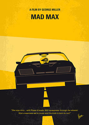 Warrior Digital Art - No051 My Mad Max Minimal Movie Poster by Chungkong Art