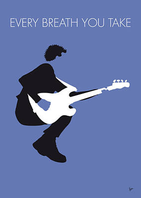 Guitar Digital Art - No058 My The Police Minimal Music Poster by Chungkong Art