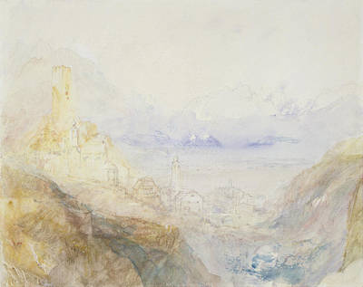 Alps Drawing - No.0588 Hospenthal, Fall Of St by Joseph Mallord William Turner