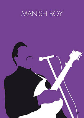 Bos Bos Digital Art - No061 My Muddy Waters Minimal Music Poster by Chungkong Art