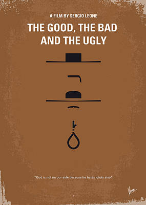 The Classic Digital Art - No090 My The Good The Bad The Ugly Minimal Movie Poster by Chungkong Art