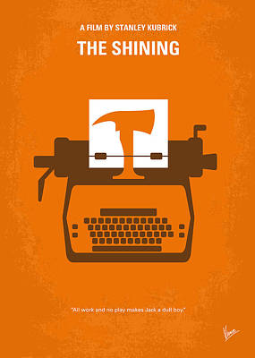 Orange Style Digital Art - No094 My The Shining Minimal Movie Poster by Chungkong Art