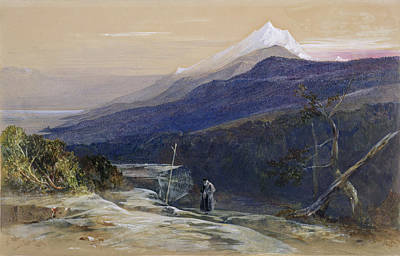 Person Drawing - Mount Athos, 1857 by Edward Lear
