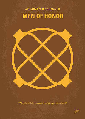 Robert De Niro Digital Art - No099 My Men Of Honor Minimal Movie Poster by Chungkong Art