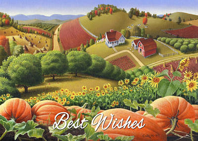 No10 Best Wishes Greeting Card  Original by Walt Curlee