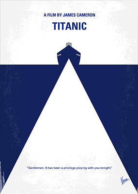 Ships Digital Art - No100 My Titanic Minimal Movie Poster by Chungkong Art