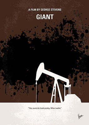 Dean Digital Art - No102 My Giant Minimal Movie Poster by Chungkong Art