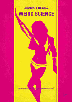 No106 My Weird Science Minimal Movie Poster Art Print