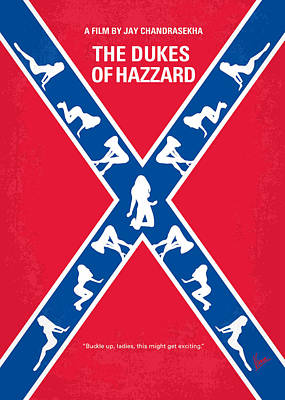 Bos Bos Digital Art - No108 My The Dukes Of Hazzard Movie Poster by Chungkong Art