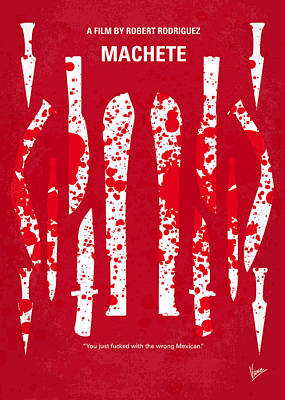 No114 My Machete Minimal Movie Poster Art Print by Chungkong Art