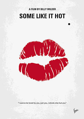 Film Digital Art - No116 My Some Like It Hot Minimal Movie Poster by Chungkong Art
