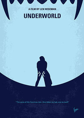 Warrior Digital Art - No122 My Underworld Minimal Movie by Chungkong Art