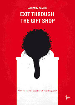 Banksy Digital Art - No130 My Exit Through The Gift Shop Minimal Movie Poster by Chungkong Art